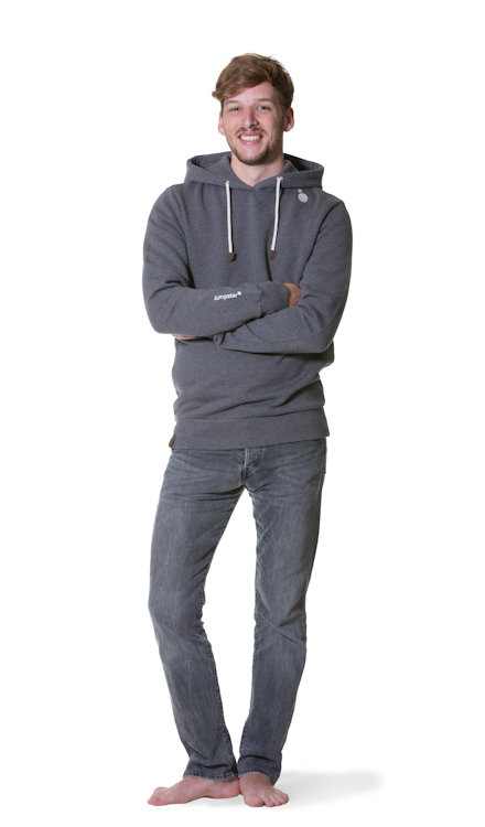 Jumpster Exquisite Gray Hoodie