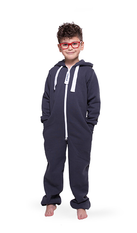 Jumpster Jumpsuit Unicolor-Iron Kinder