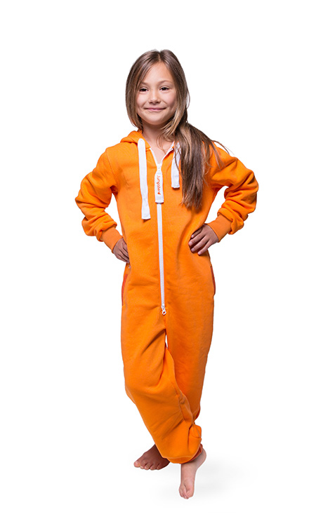 Jumpster Jumpsuit Unicolor-Orange Kinder