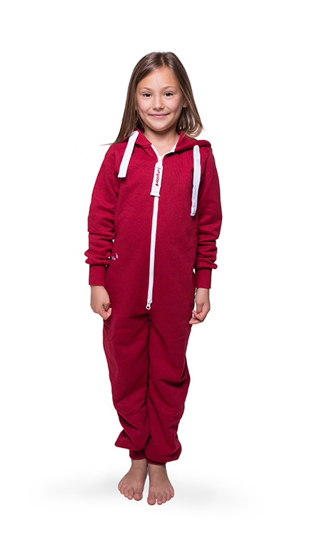 Jumpster Jumpsuit Unicolor-Red Kinder