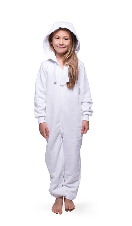 Jumpster Jumpsuit Unicolor-White Kinder