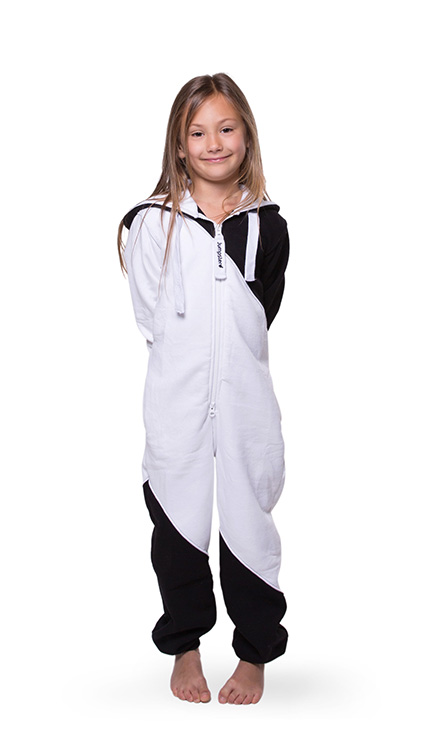 Jumpster Jumpsuit Mashup Black-White Kinder