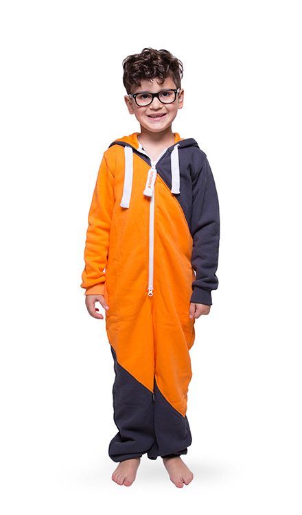 Jumpster Jumpsuit Mashup Orange-Iron Kinder