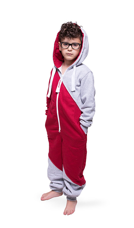 Jumpster Jumpsuit Mashup-Red Kinder